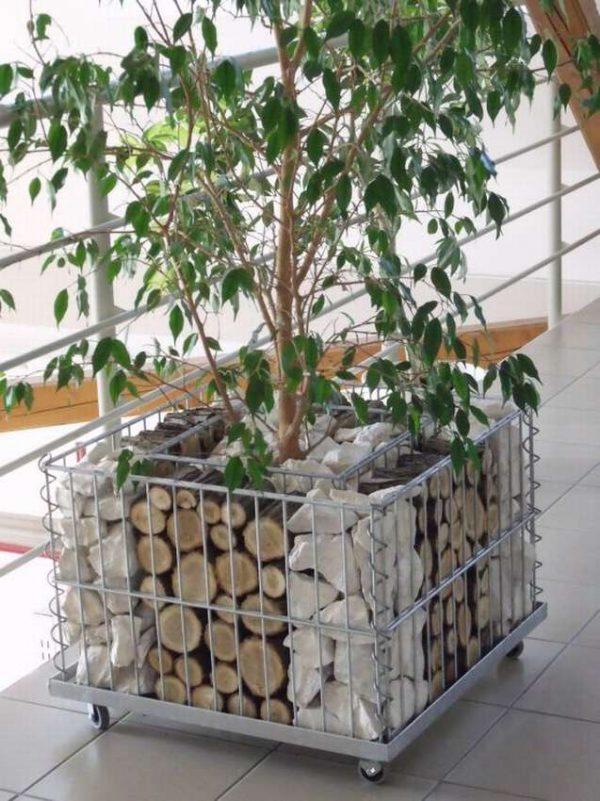 gabion planter steel