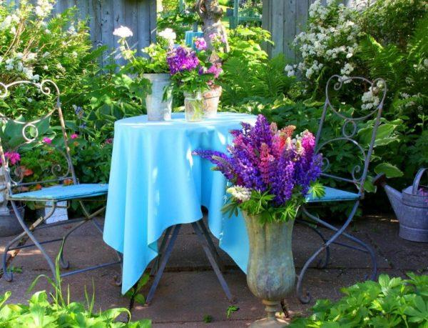 garden furniture blue