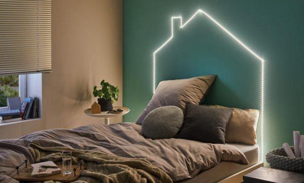 led light in bedroom
