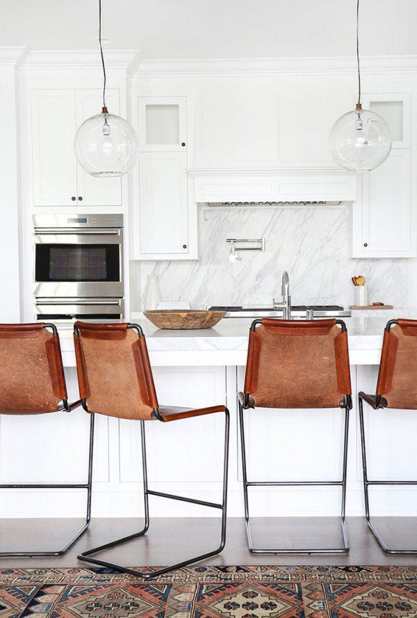 leather bar stools with back