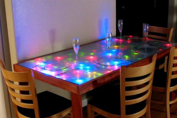 led dining room table