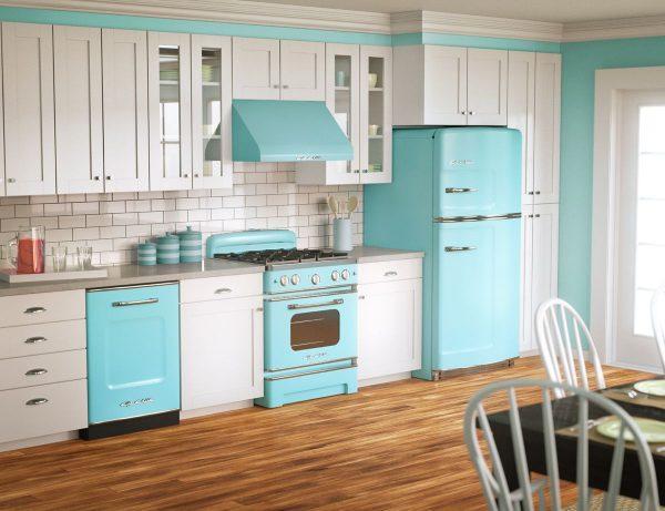retro kitchen refrigerator