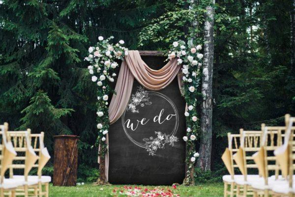 Wedding yard decorations