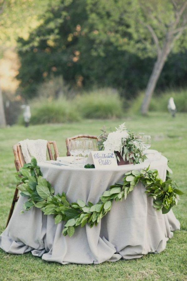backyard wedding tables