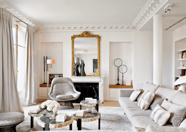 modern french style living room