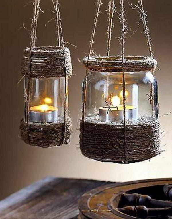 diy hanging candle lanterns