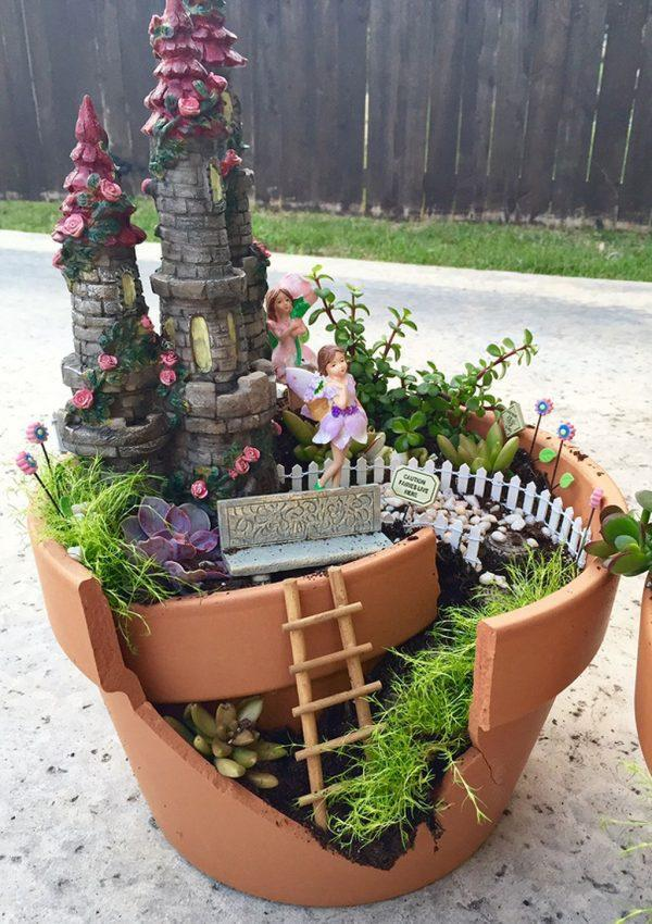 outdoor fairy gardens