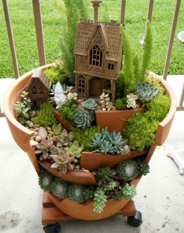 broken pot planter diy