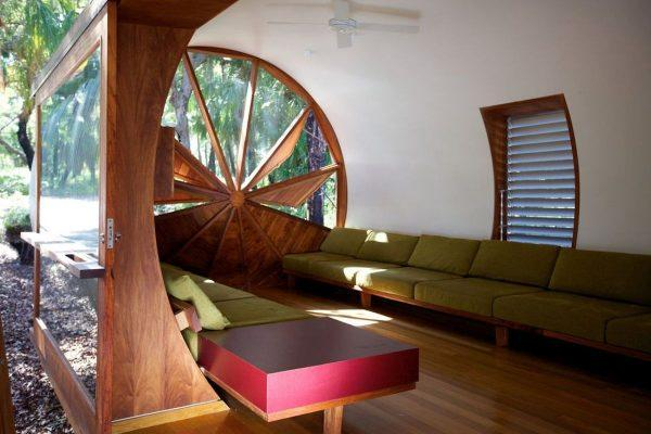 round wooden windows