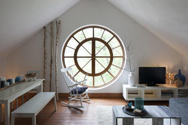 large round windows