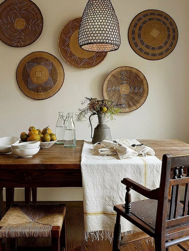 Round objects in home decor