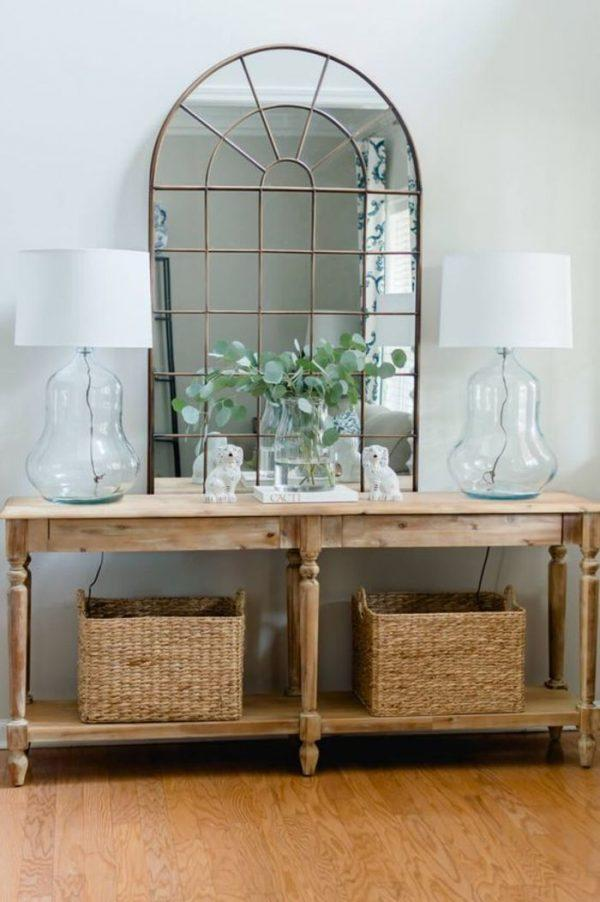 arched wall mirror