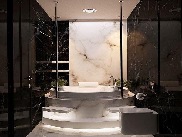 luxury marble bathrooms