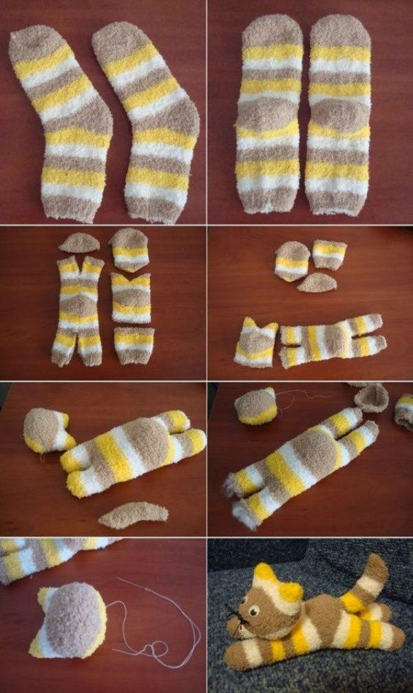 How to make soft toys at home with socks