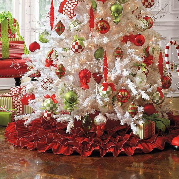 elegant christmas tree skirts