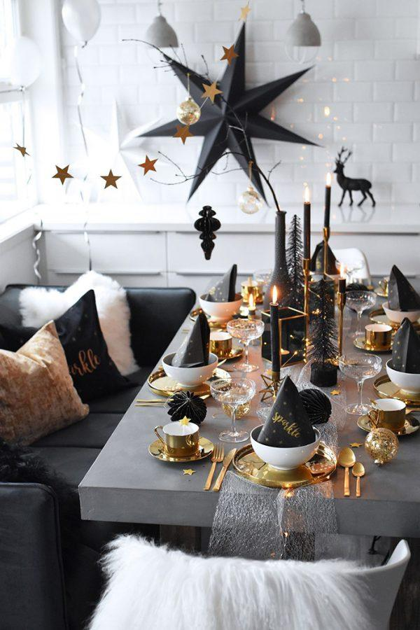 new year table decorations