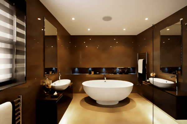 dark brown bathroom decor