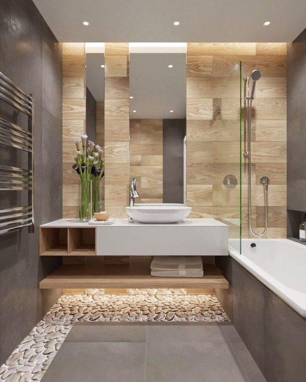 brown small bathroom ideas