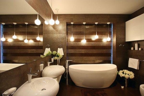 chocolate brown bathroom