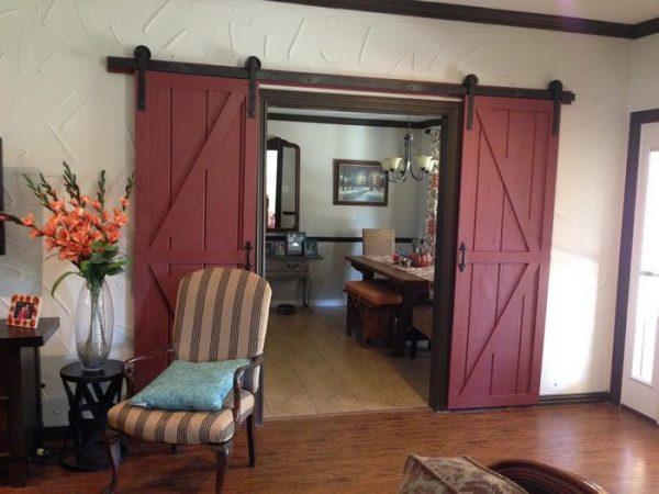 double barn doors sliding