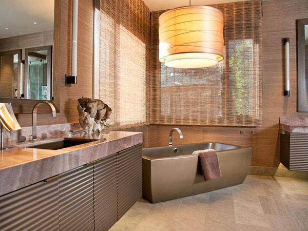 modern bathroom window curtains
