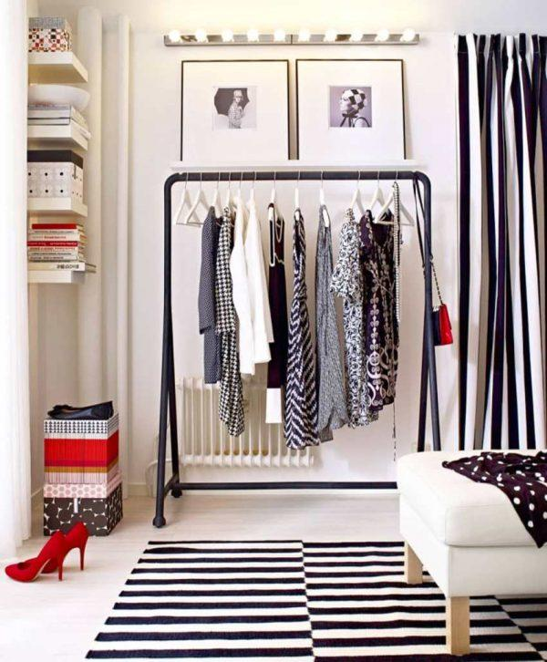 industrial style clothes rack