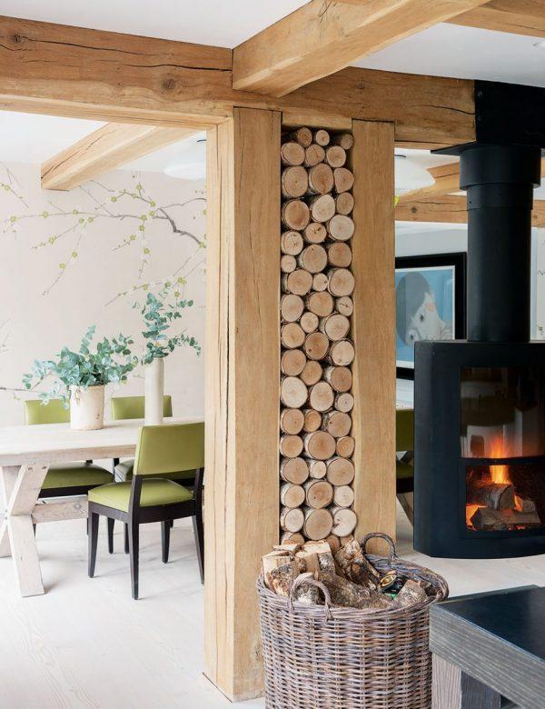 Indoor log storage