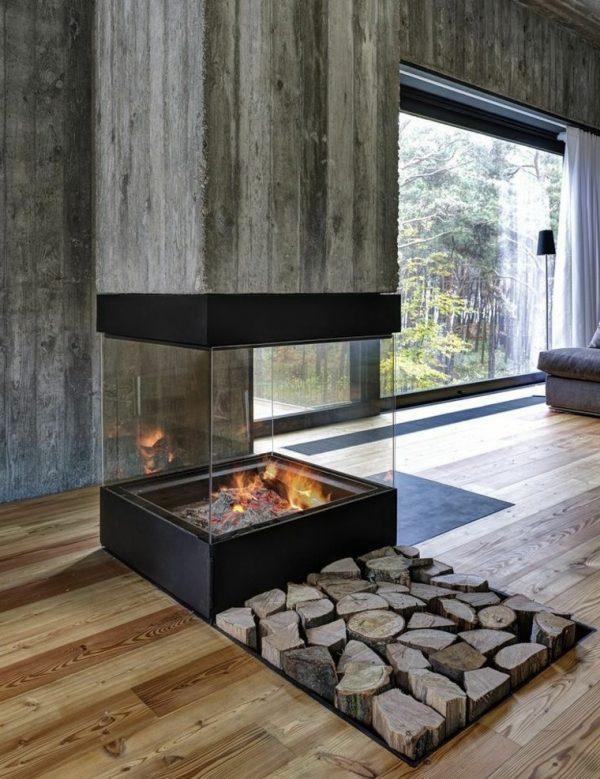 log holder for inside fireplace