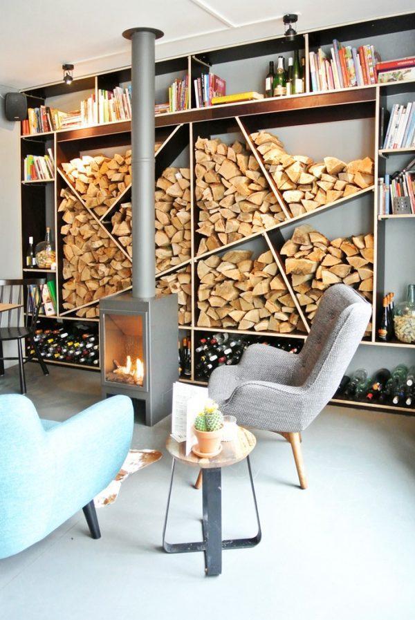 decorative fireplace log holder