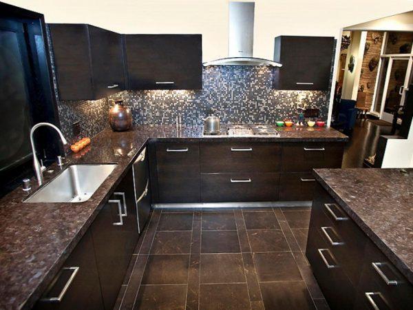 brown granite countertops kitchen