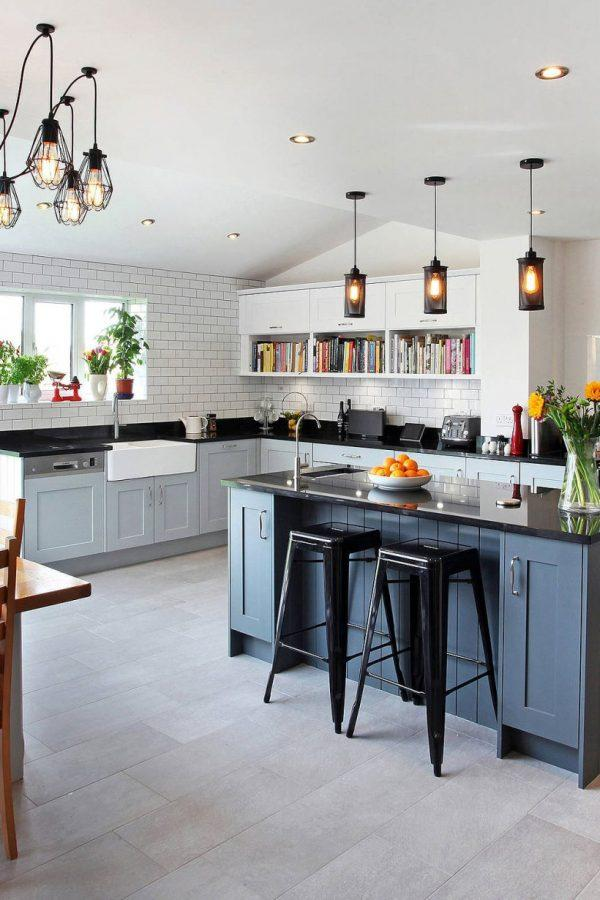 best cabinet colors with black granite