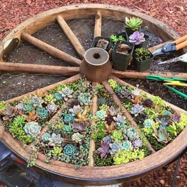 diy flower bed decor