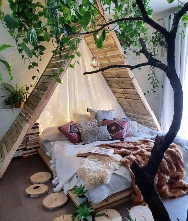 boho chic teenage bedroom