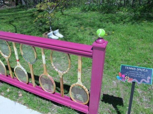repurpose old tennis rackets