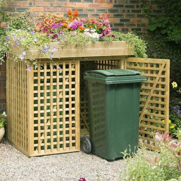 Ways to hide garbage cans outside