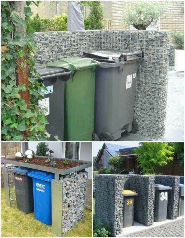 ways to hide garbage cans