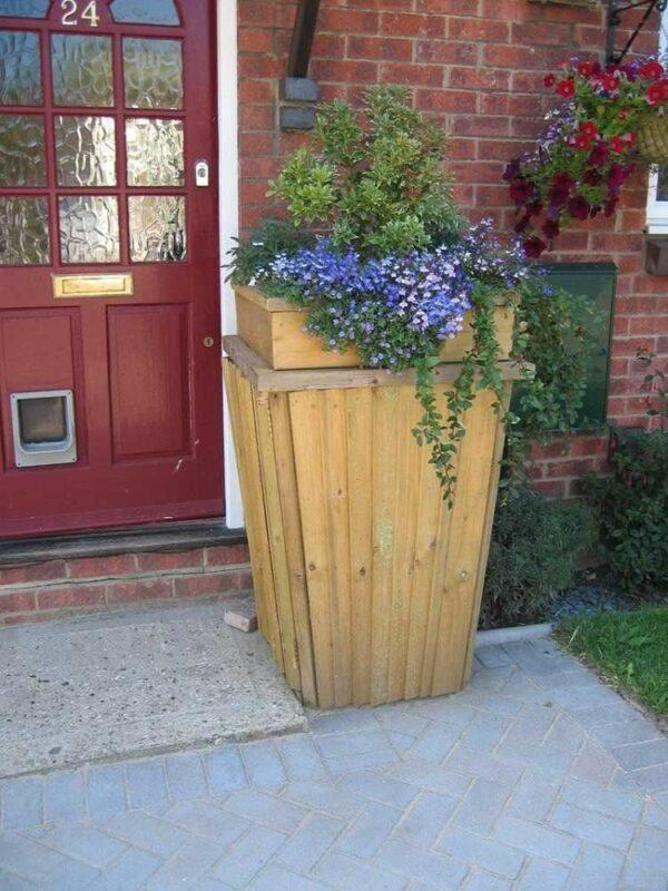 plants to hide garbage cans