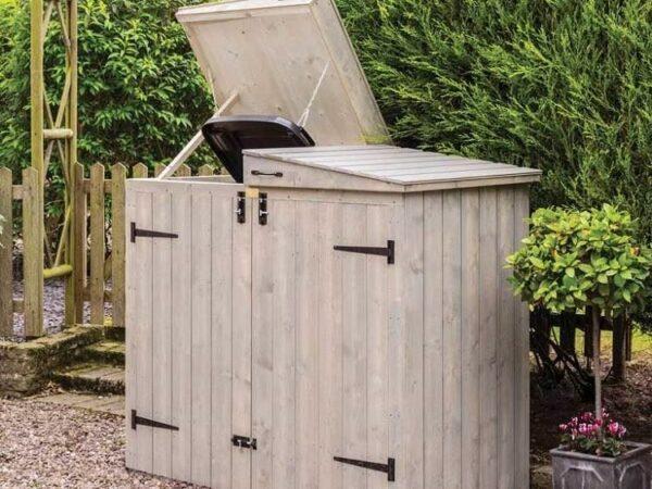 diy garbage can enclosure