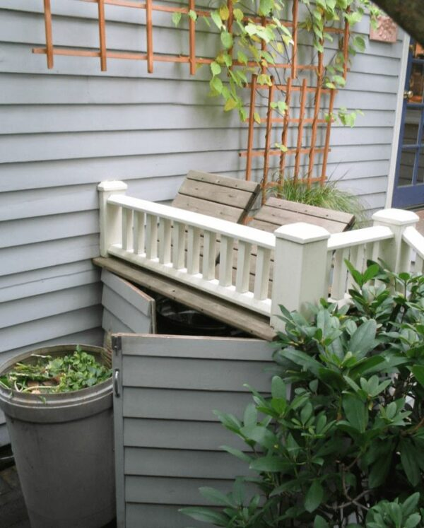 ideas to hide outdoor garbage cans