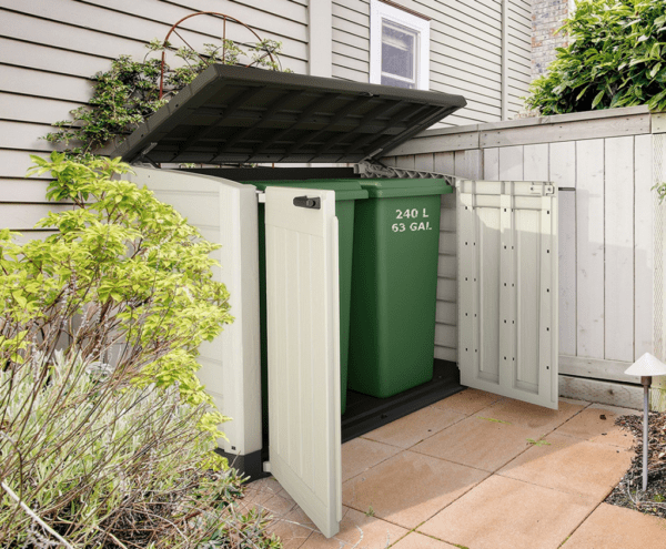 ideas to hide garbage cans