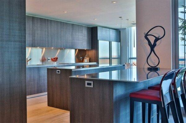 Modern kitchens with two islands