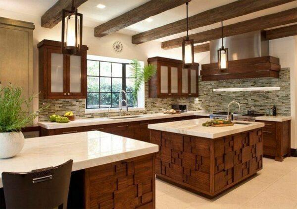 two kitchen islands