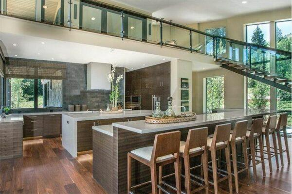 luxury kitchens with two islands