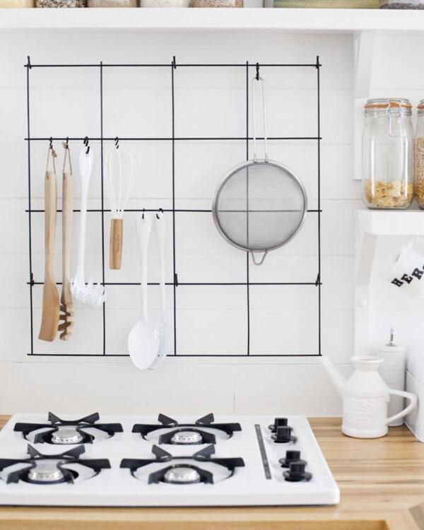kitchen wall grid organizer