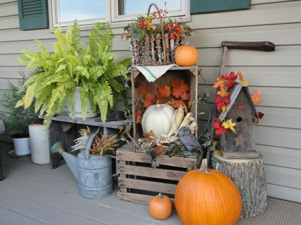 autumn outdoor decorations idea
