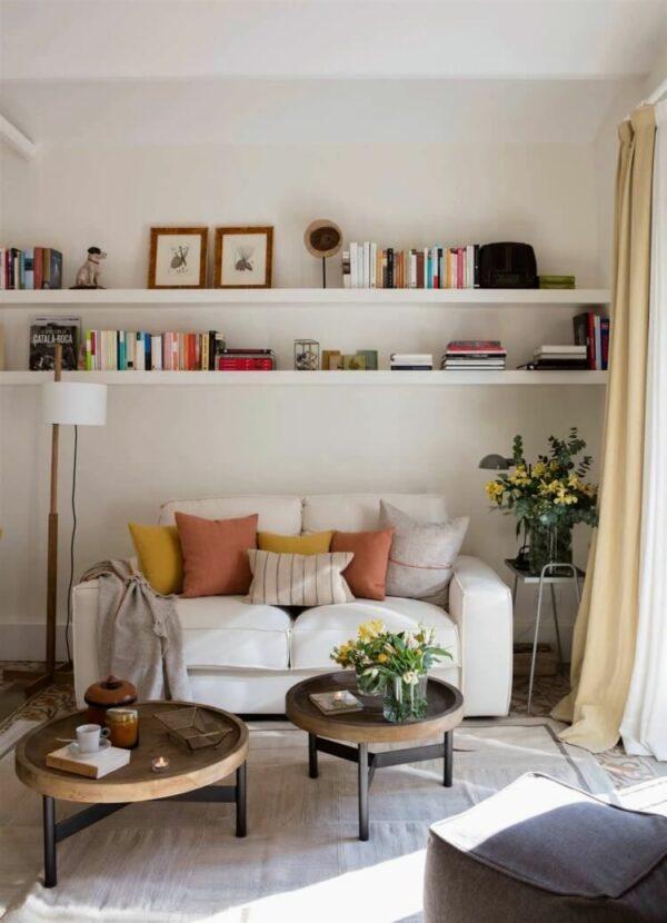 shelf above sofa ideas