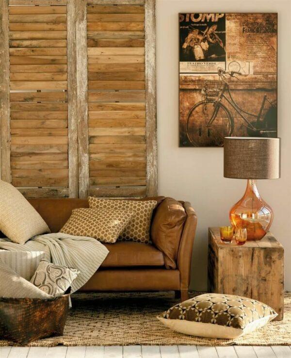 wall decor above the sofa