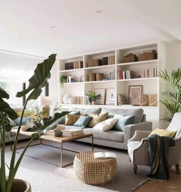 decor ideas above sofa
