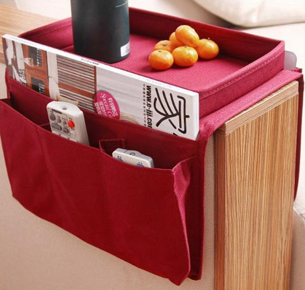 couch organizer with food tray