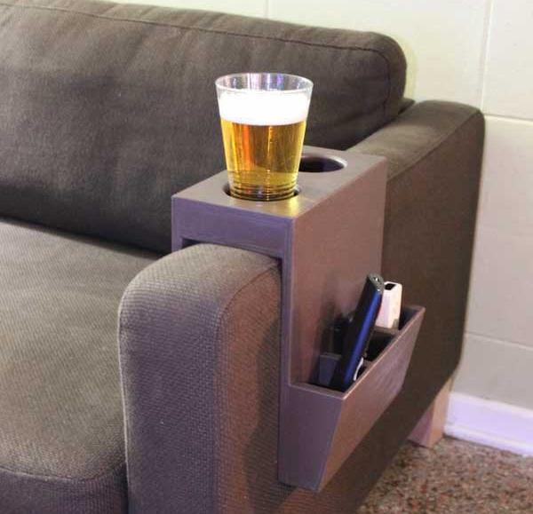 couch caddy with cup holder